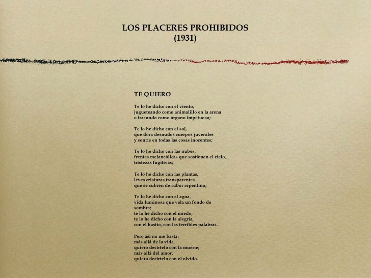 Luis Cernuda-Te quiero