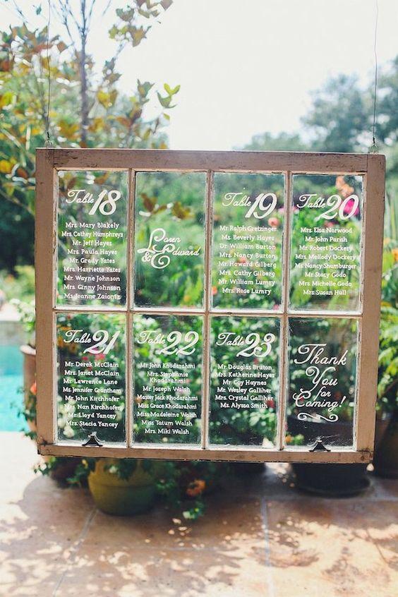 Lista invitados ventana cristal
