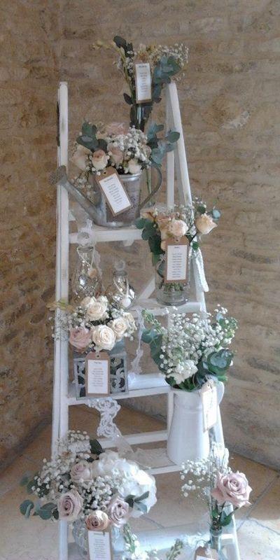 Seating plan decoración romántica