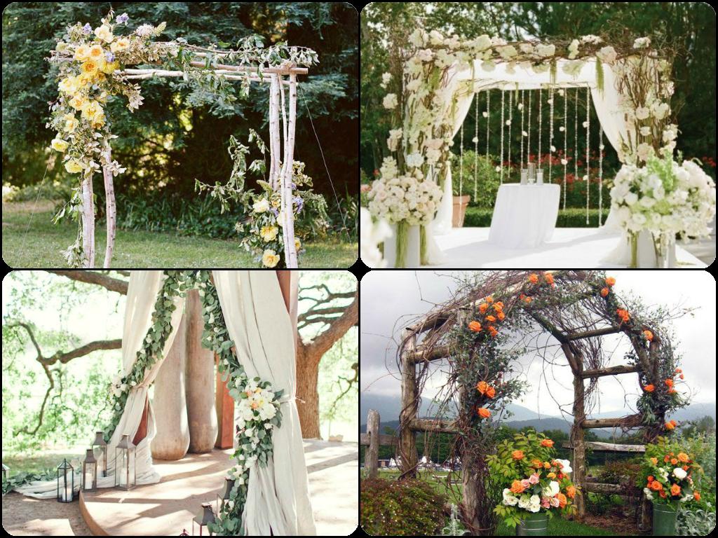 Arcos flores y frutas