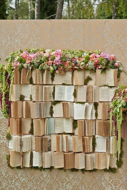 Decoración bodas literarias