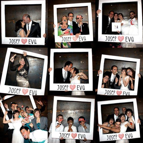 Matrimonio Tema Polaroid : Ideas para un photocall de boda