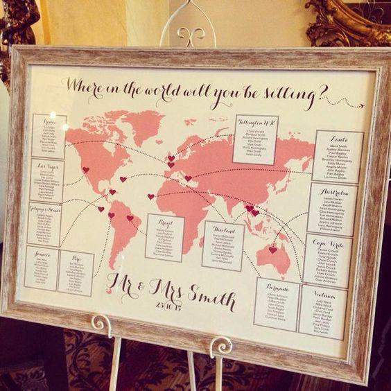 Seating mapa del mundo