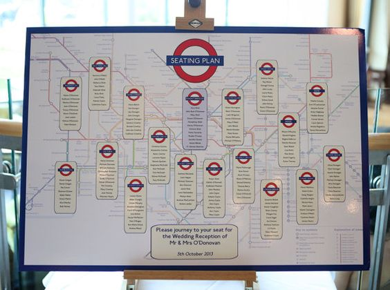 Seating plan plano del metro